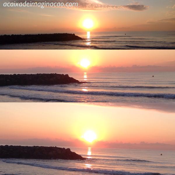 nascer do sol no mediterráneo