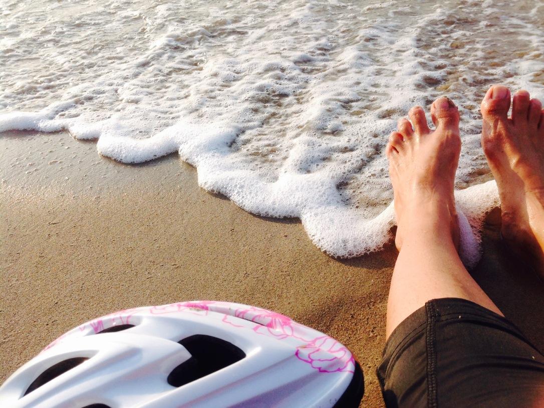 Praia pé