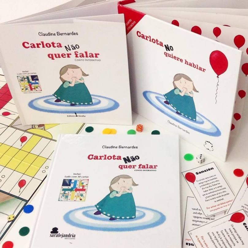 Carlota 3 livros portugues e espanhol