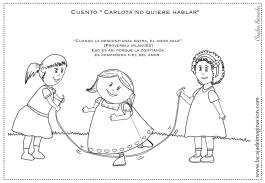 Colorear Carlota no quiere hablar 4 comba