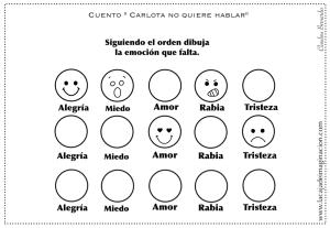 Colorear Carlota No Quiere Hablar 7 Dibujar Emociones