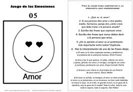 Juego de las emociones 5 frases amor