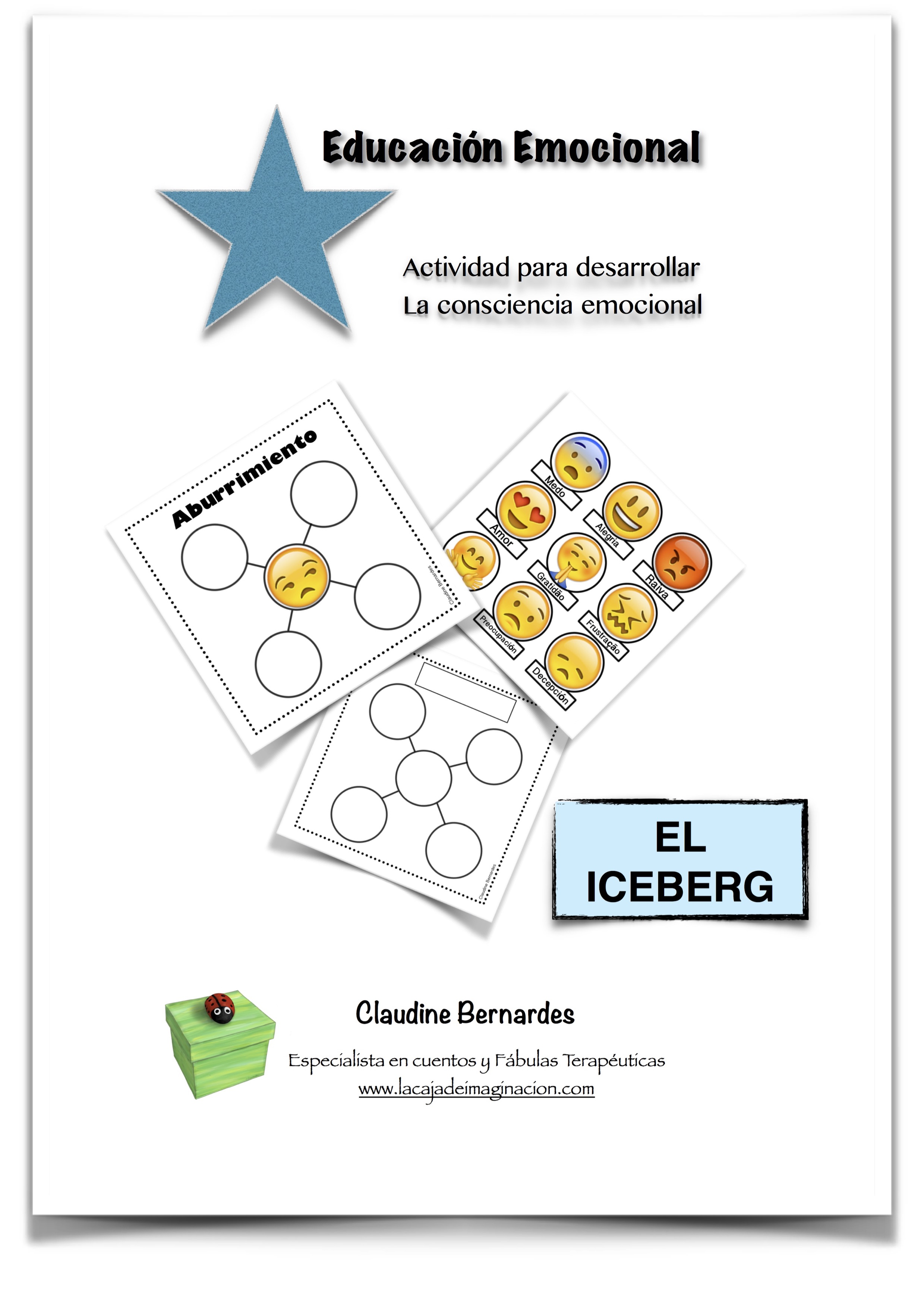 Tapa Actividad Iceberg - Educación Emocional - Claudine Bernardes