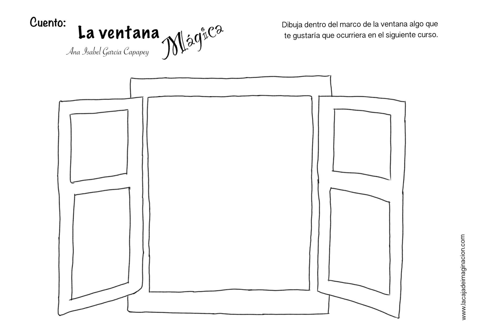 La ventana mágica para colorear anabel capapey